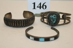 3 Silver Bracelets