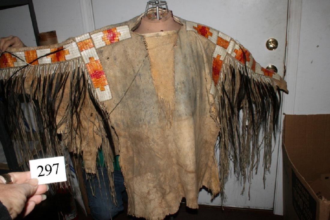 Beautiful Well Made Mandan War Shirt, Quill work, - 3