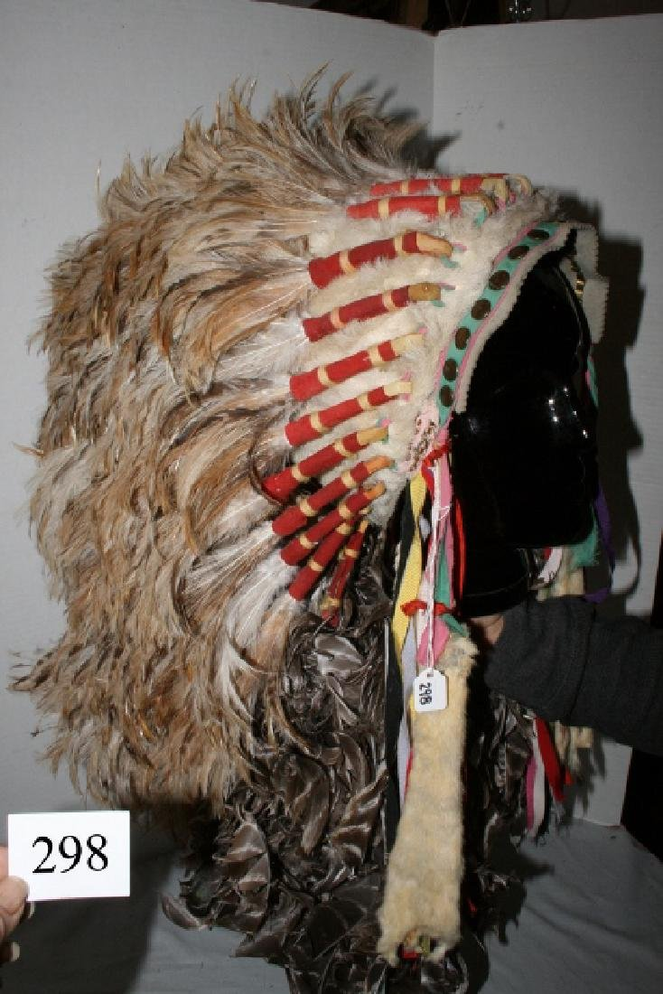 Rooster Hackle Feather Headdress - 2