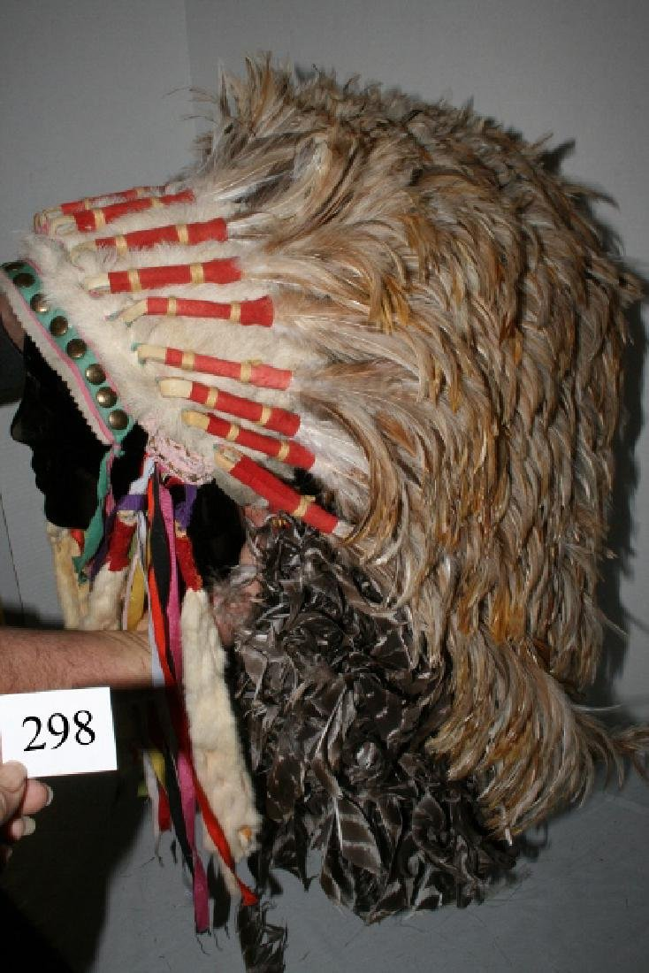 Rooster Hackle Feather Headdress - 4