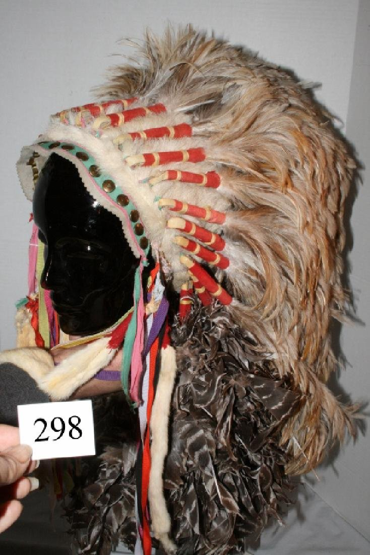 Rooster Hackle Feather Headdress - 5