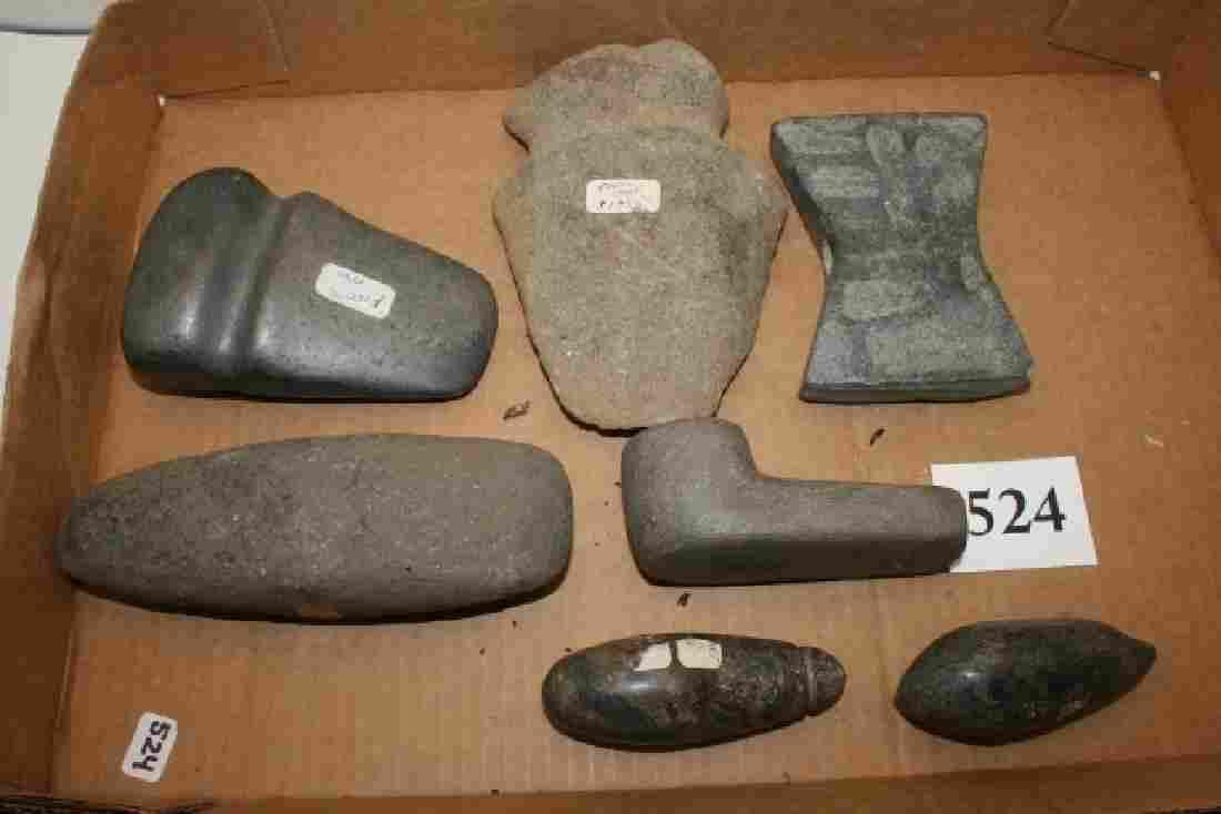 Stone Celt,  Full Groove Axe