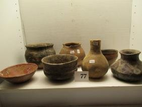 7 Assorted Pottery Vessels