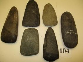 6 Stone Celts