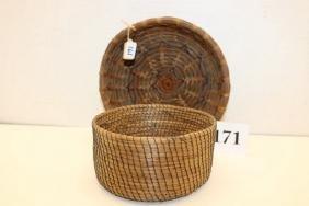2 Pine Needle Baskets