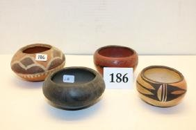 4 Assorted Pottery Bowls