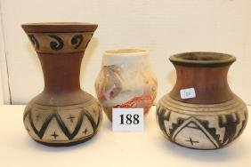 3 Assorted Pottery Jars