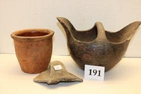 3 Assorted Pottery Items
