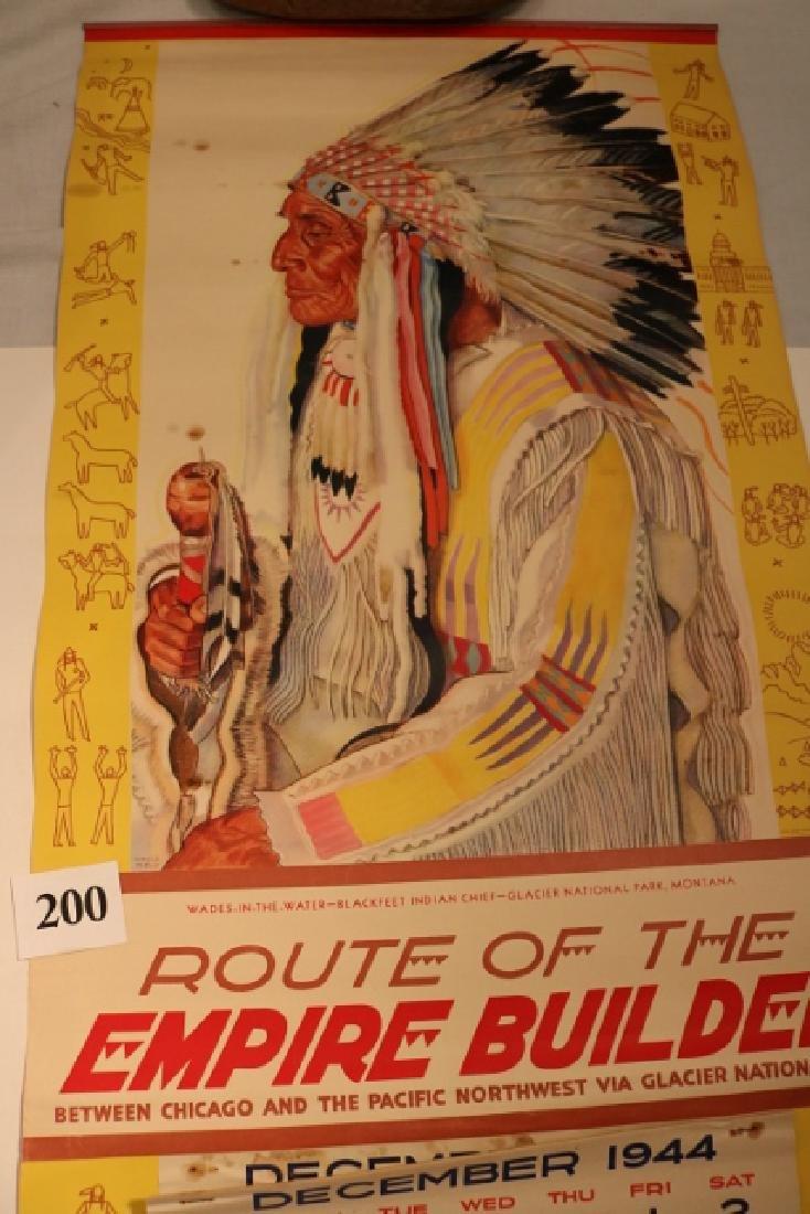 Great Northern R.R. 1945 Calendar - 2