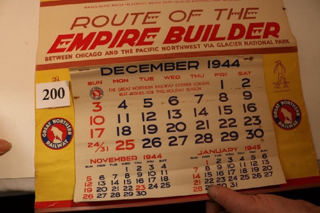 Great Northern R.R. 1945 Calendar - 3