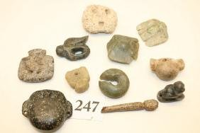 Group of 10 Stone Artifacts