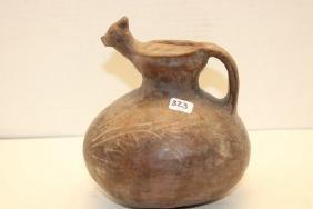 Effigy, Peruvian Pottery Vessel
