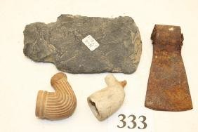 2 Settler's Clay Pipes