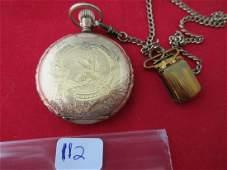 Fancy gold filled hunting case ladies antique pocket