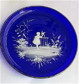 35. Lovely vintage Hand painted Mary Gregory charger