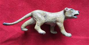 Vintage miniature Vienna Austria bronze lioness