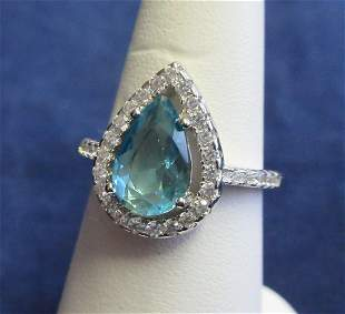 Beautiful Apx 3 cwt Aquamarine and topaz sterling
