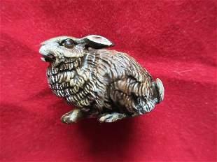 Vintage miniature Vienna Austria bronze bunny