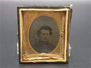 Nice civil war tin type photo of soldier
