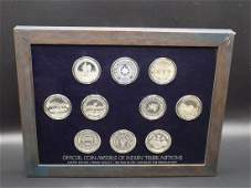 Fascinating Medals of Indian Tribal Nations-.999 fine