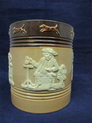 Unusual vintage Royal Doulton covered jar