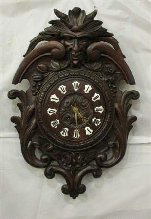 Magnificent hand Carved 1881 black forest Clock