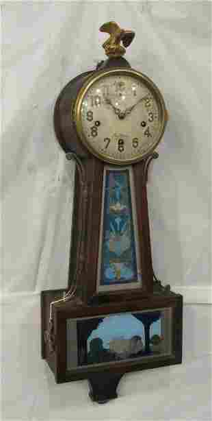 Unusual New Haven Westminster chime Banjo clock