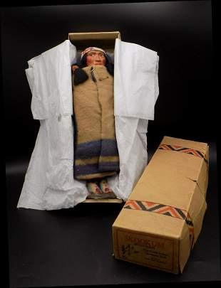 Vintage Skookum the Great Indian Doll in original box
