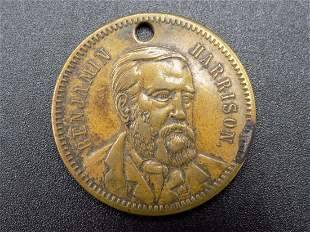 Benjamin Harrison Native American Indian Peace medal.