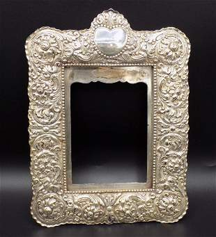 Fancy signed tiffany sterling picture frame