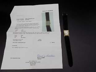 Fine vintage man's Longines 14 k gold wrist watch