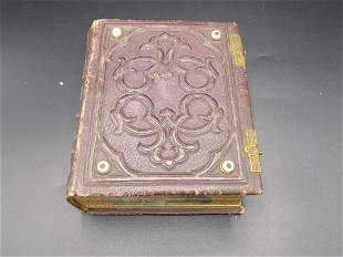 Unusual Civil War photo album with pictures on sides