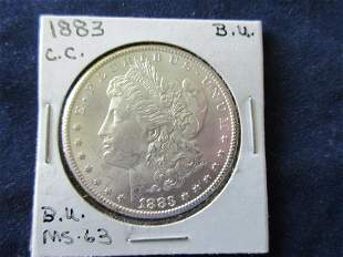 Uncirculated 1883 Carson City silver dollar