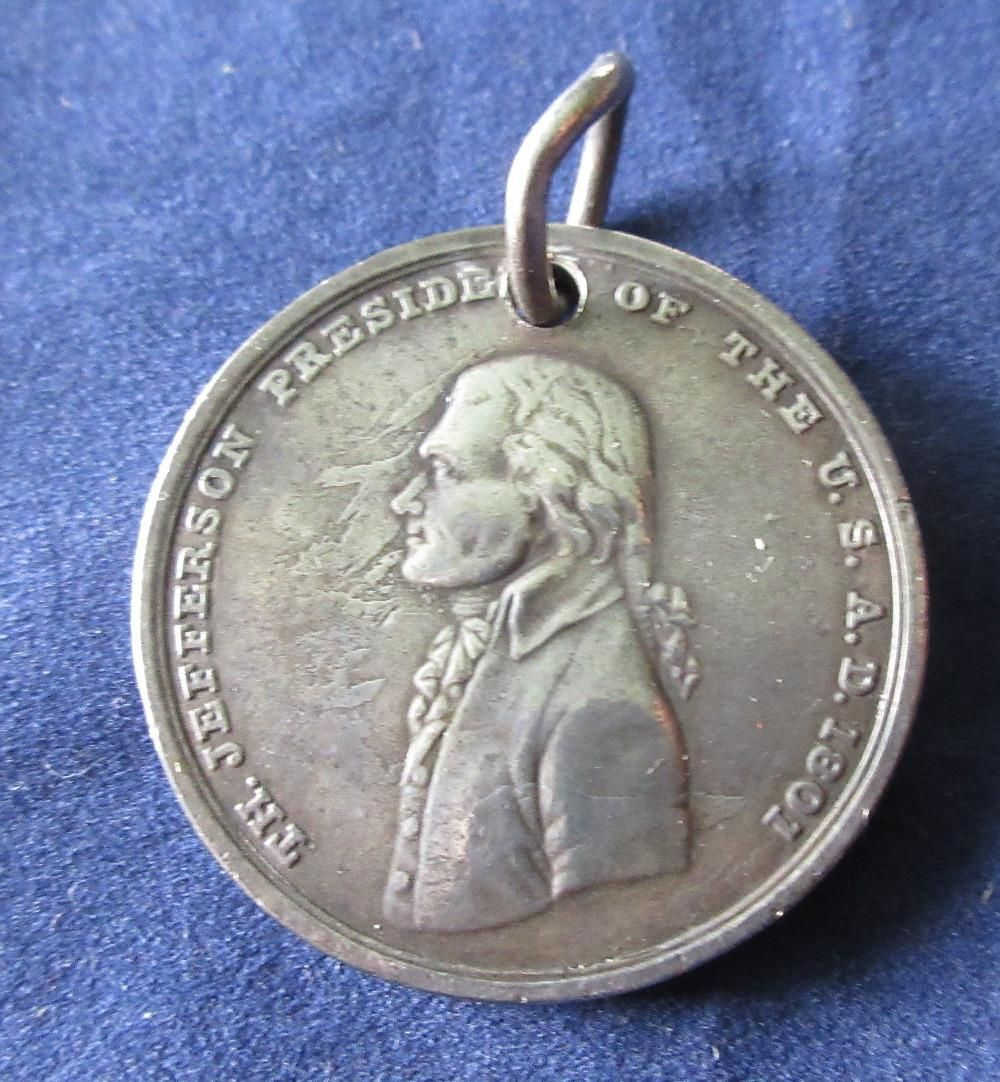 1801 Thomas Jefferson Native American Indian Peace