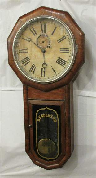 Early Fine Gilbert #2 single weight rosewood clock