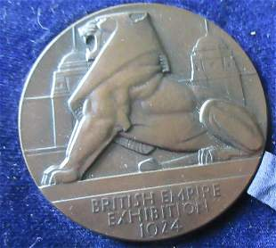 Wonderful British Empire Exhibition 1924 Medal
