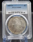 1885 O  NGC  MS65 Graded Morgan silver dollar