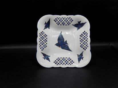 Beautiful Victoria Austria blue bird plate