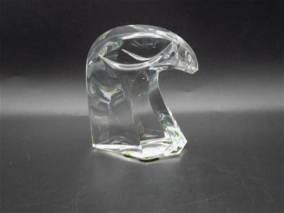 Lovely Saint -Louis France art glass falcon