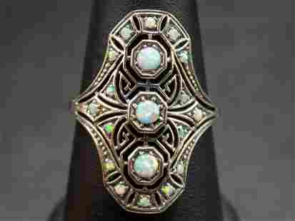 Beautiful fire opals in filigree .925 sterling silver