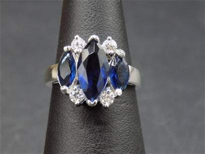 Beautiful approx. 3 cwt. sapphire and topaz sterling