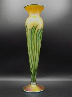 Magnificent Lundberg Studios art glass vase
