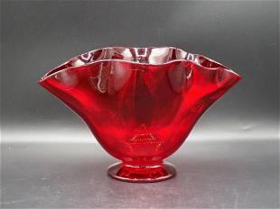 Beautiful Steuben selenium art glass vase