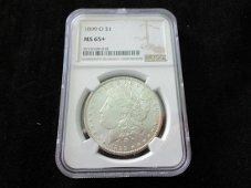 1899 O NGC  MS65+  Graded Morgan silver dollar