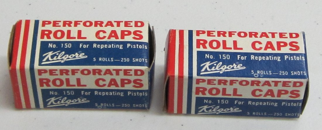 2 boxes Vintage Kilgore perforated rolls of caps