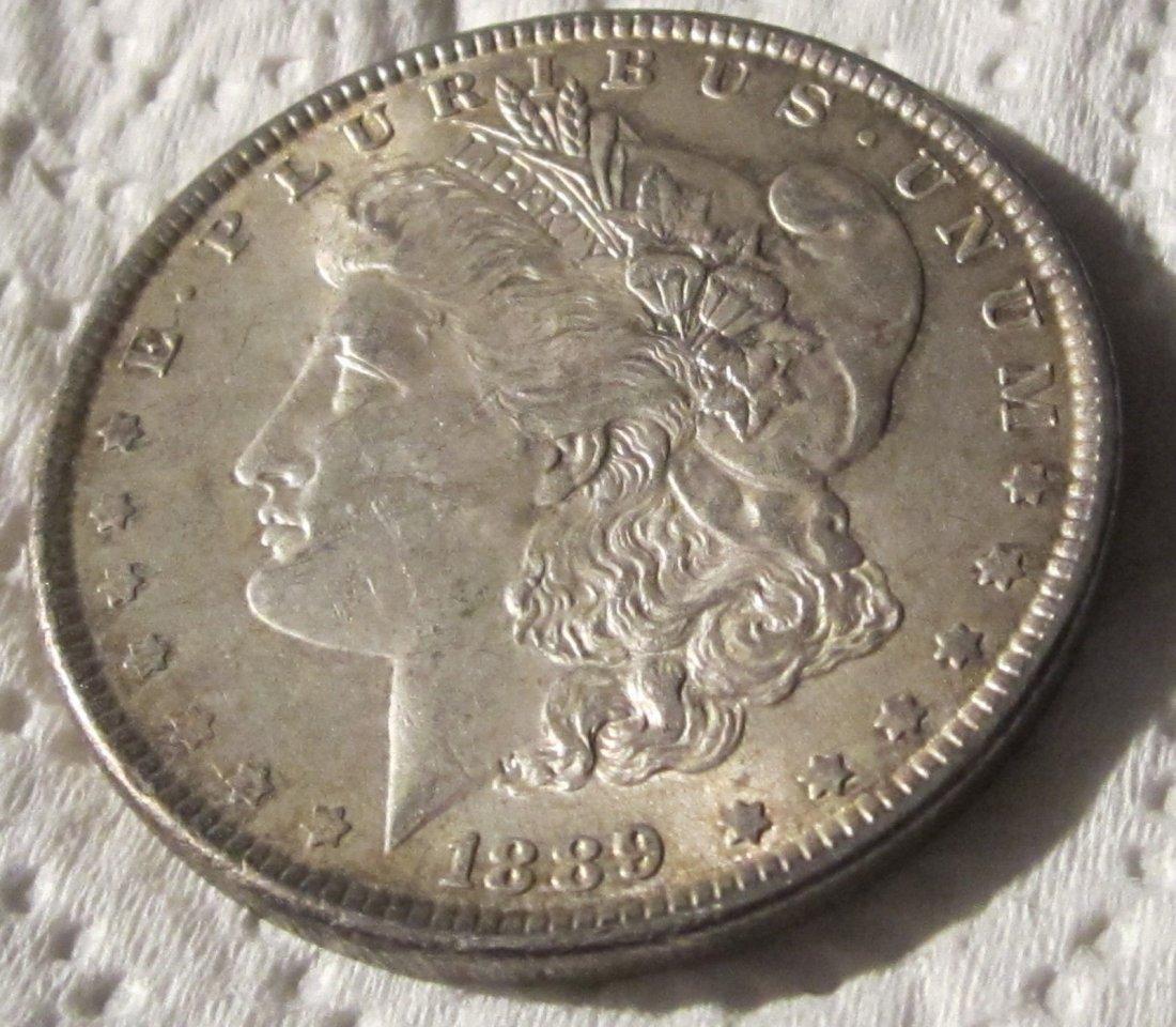 Beautiful 1889 AU/BU Morgan Silver dollar