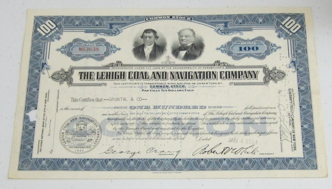 4 Great Old Stock Certificates With Great Lithography.