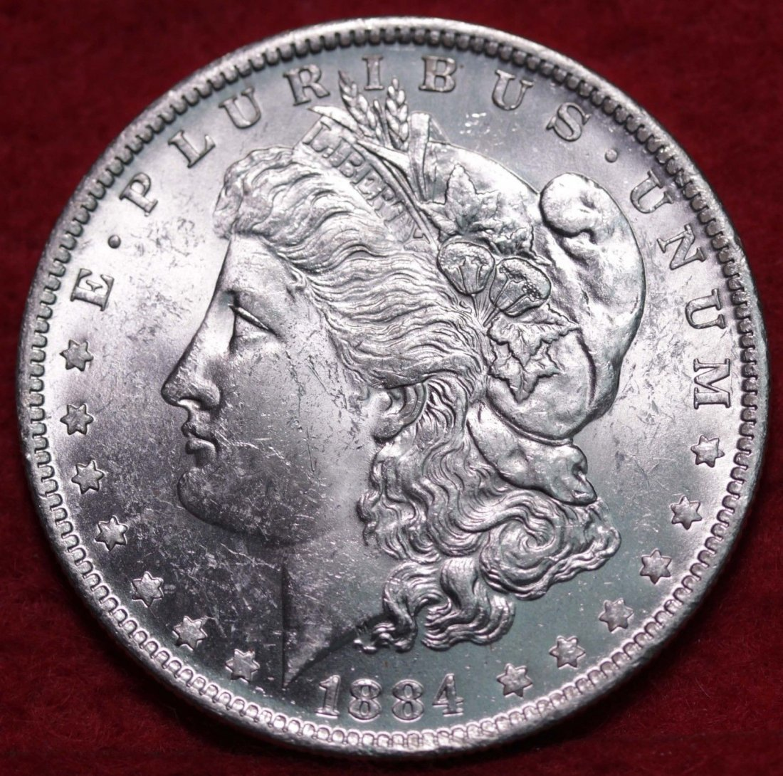 Uncirculated 1884-O Silver Morgan Dollar