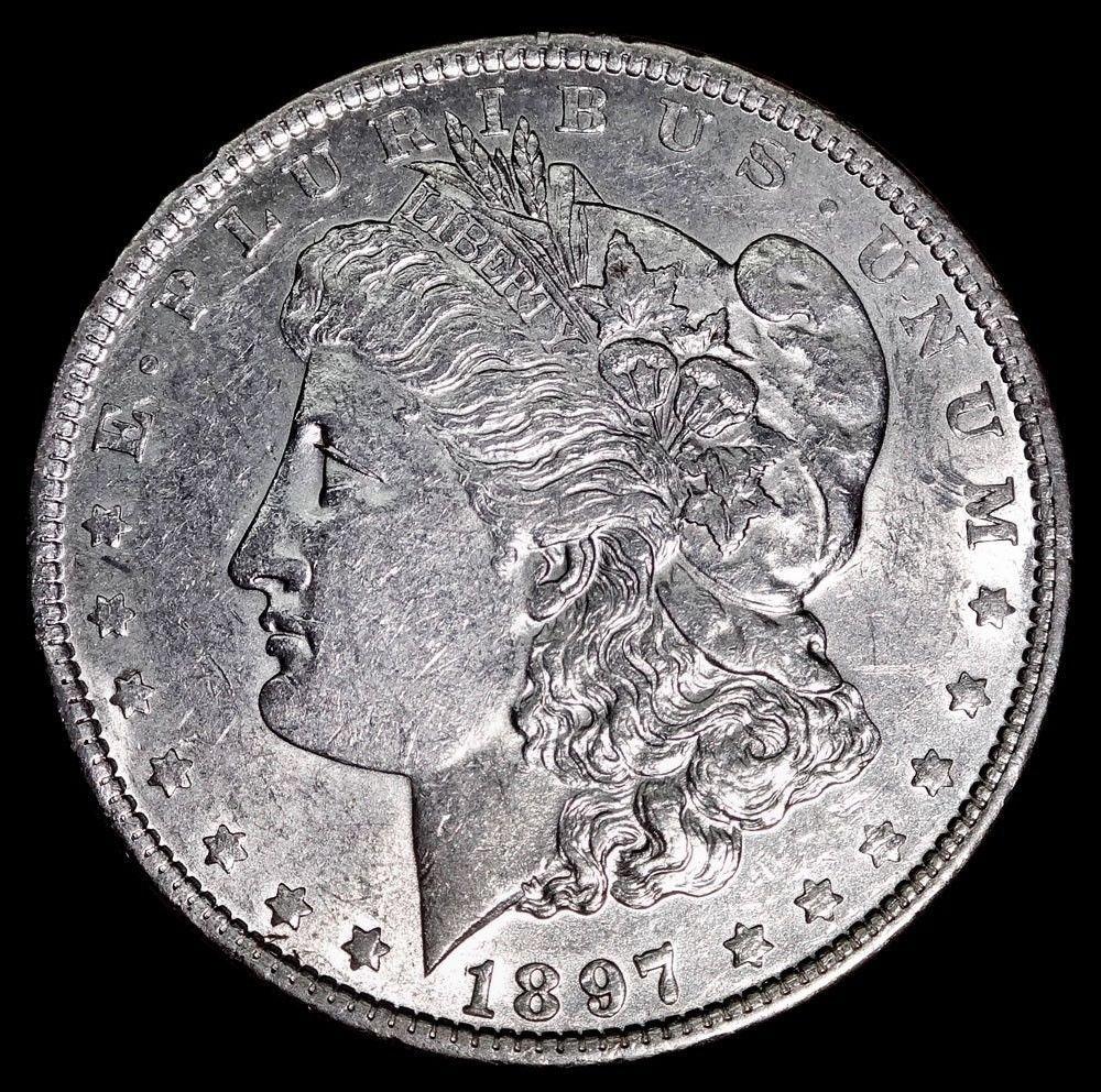 1897 gem bu $1 Morgan Silver Dollar