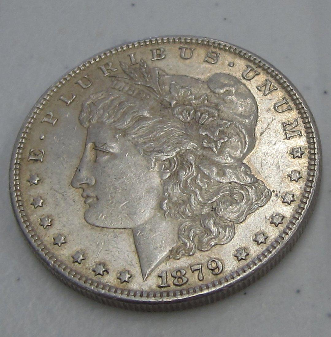 Au/Bu 1879 MORGAN SILVER DOLLAR